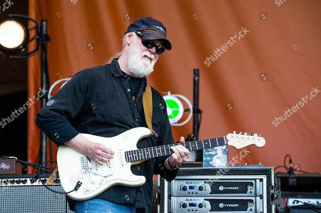 Stock Picture of Jimmy Herring of Widespread Panic performs at the New Orleans Jazz and Heritage Festival, in New Orleans