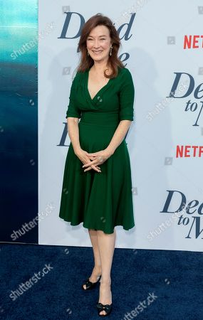 "Valerie Mahaffey arrives at the LA Premiere of ""Dead to Me"" at The Broad Stage, in Santa Monica, Calif"