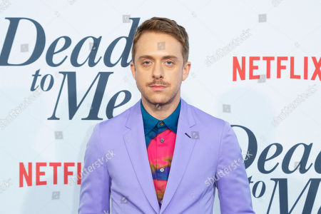 """Max Jenkins arrives at the LA Premiere of """"Dead to Me"""" at The Broad Stage, in Santa Monica, Calif"""