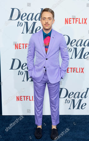 """Stock Photo of Max Jenkins arrives at the LA Premiere of """"Dead to Me"""" at The Broad Stage, in Santa Monica, Calif"""