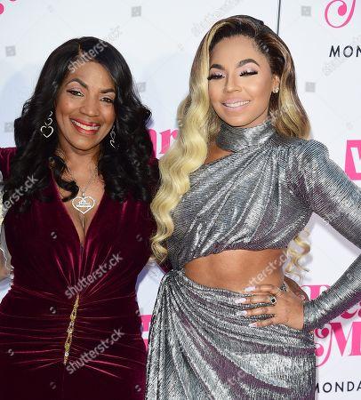Stock Picture of Ashanti and mother Tina Douglas