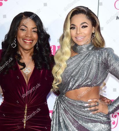 Stock Photo of Ashanti and mother Tina Douglas