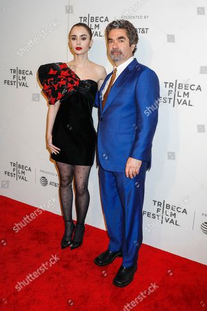 Lily Collins and Joe Berlinger