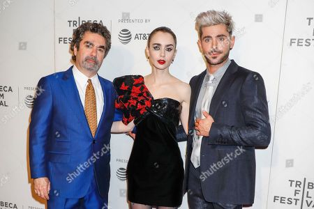 Joe Berlinger, Lily Collins and Zac Efron