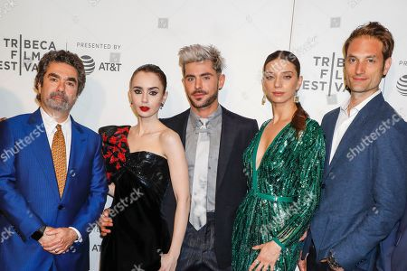 Joe Berlinger, Lily Collins, Zac Efron, Angela Sarafyan and Michael Werwie