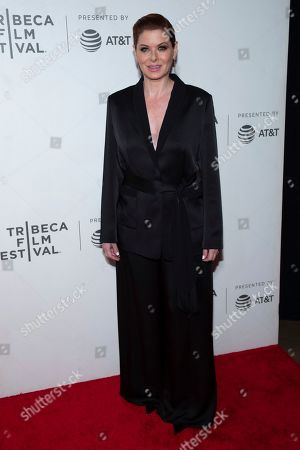 Nora Ephron Juror Debra Messing attends the Award Ceremony during the 2019 Tribeca Film Festival in the Stella Artois Theatre at the Tribeca Performing Arts Center, in New York