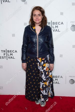 """Nora Ephron Award recipient for """"Initials S.G."""" Rania Attieh attends the Award Ceremony during the 2019 Tribeca Film Festival in the Stella Artois Theatre at the Tribeca Performing Arts Center, in New York"""