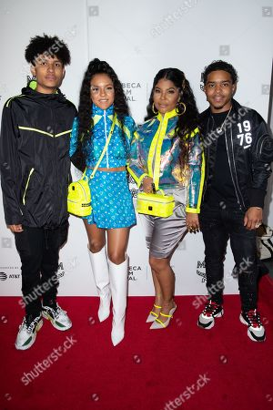 Niko Brim, Madison Star Brim, Misa Hylton-Brim and Justin Dior Combs