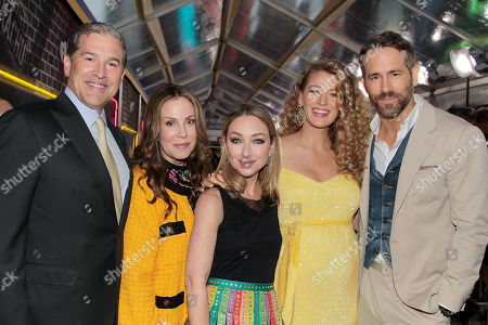 Josh Grode, Mary Parent, Blair Rich, Blake Lively and Ryan Reynolds