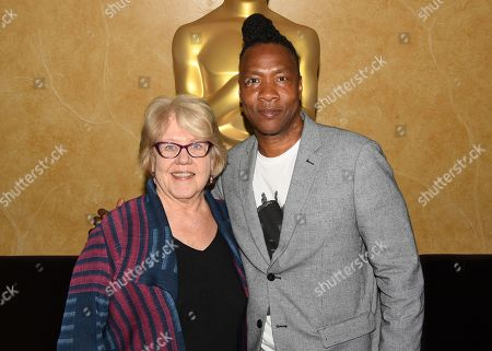 Kate Amend and Roger Ross Williams attend the 2019 Academy of Motion Picture Arts and Sciences Documentary Branch Mixer in New York, USA - 02 May 2019