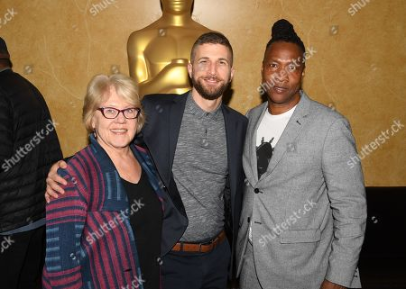 Kate Amend, Tom Oyer and Roger Ross Williams attend the 2019 Academy of Motion Picture Arts and Sciences Documentary Branch Mixer in New York, USA - 02 May 2019