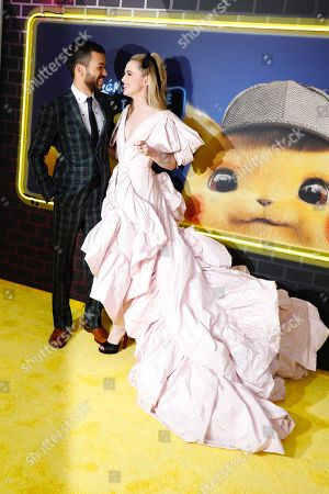 Justice Smith and Kathryn Newton