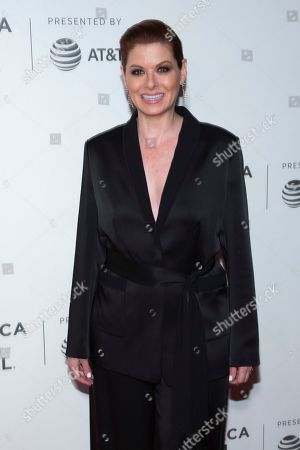 Stock Photo of Nora Ephron Juror Debra Messing attends the Award Ceremony during the 2019 Tribeca Film Festival in the Stella Artois Theatre at the Tribeca Performing Arts Center, in New York