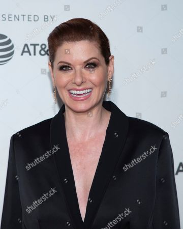 Stock Picture of Nora Ephron Juror Debra Messing attends the Award Ceremony during the 2019 Tribeca Film Festival in the Stella Artois Theatre at the Tribeca Performing Arts Center, in New York