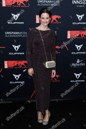Anja Knauer attends the New Faces Award 2019 ceremony in Berlin, Germany, 02 May 2019 (issued 03 May 2019). The New Faces Award is a young talent prize that has been awarded since 1998 by the German weekly Bunte.
