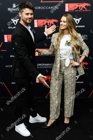 Stock Photo of Thore Schoelermann (L) and Jana Julie Kilka attend the New Faces Award 2019 ceremony in Berlin, Germany, 02 May 2019 (issued 03 May 2019). The New Faces Award is a young talent prize that has been awarded since 1998 by the German weekly Bunte.