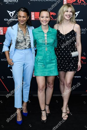 Taneshia Abt, Sonja Gerhardt and Zsa Zsa Inci Buerkle attend the New Faces Award 2019 ceremony in Berlin, Germany, 02 May 2019 (issued 03 May 2019). The New Faces Award is a young talent prize that has been awarded since 1998 by the German weekly Bunte.
