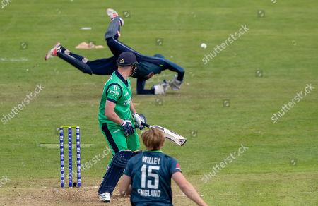 Ireland vs England. Ireland's Josh Little