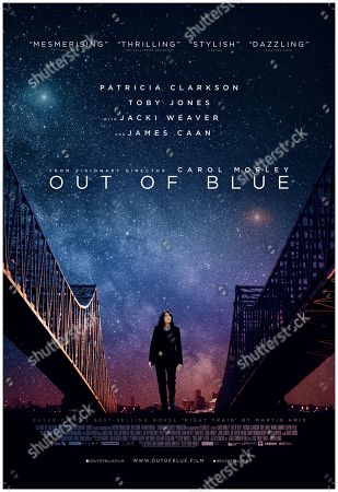 Stock Image of Out of Blue (2018) Poster Art. Patricia Clarkson as Detective Mike Hoolihan