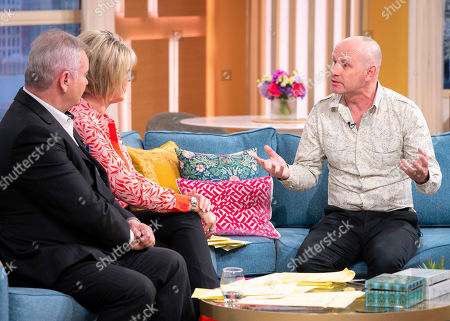 Stock Image of Eamonn Holmes and Ruth Langsford with Mike Dilger