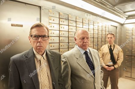 Timothy Spall as Terry Perkins, Kenneth Cranham as Brian Reader and Thomas Coombes as Gary Stevenson.