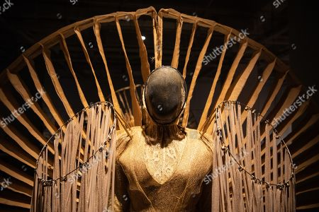 A view of a mannequin in a costume during the 'Tim Yip: Mirror' exhibition at the Today Art Museum in Beijing, China, 03 May 2019. Tim Yip is an artist, costume designer, and art director for stage and film. The exhibition 'Tim Yip: Mirror' shows various expression formats of art using photography, video, installation and sculpture. The exhibition runs from 13 April to 21 July 2019.