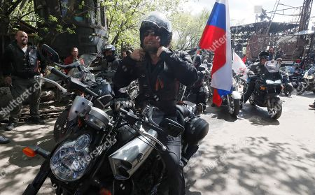 Editorial image of Russian bike club the Night Wolves open a new motorcycle season in Moscow, Russian Federation - 03 May 2019