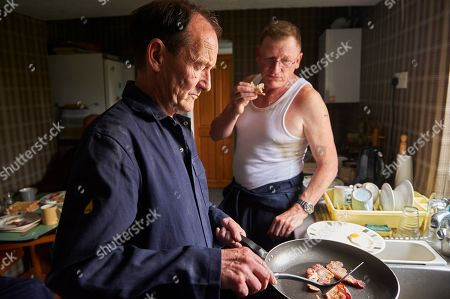 Stock Picture of Geoff Bell as Carl Wood and David Hayman as Danny Jones.