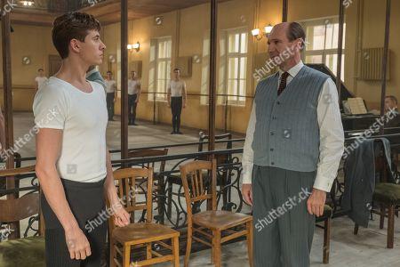 Oleg Ivenko as Rudolf Nureyev and Ralph Fiennes as Alexander Pushkin