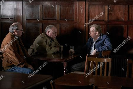 Stock Picture of Timothy Spall as Terry Perkins, Kenneth Cranham as Brian Reader and Alex Norton as Kenny Collins.