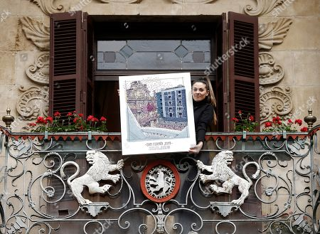 Editorial photo of Presentation of 2019 San Fermin Fiestas poster in Pamplona, Spain - 03 May 2019