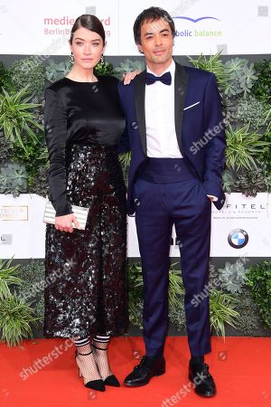 Ina Paule Klink (L) and Nikolai Kinski attend the 69th German Film Awards 'LOLA' in Berlin, Germany, 03 May 2019. The most highly endowed cultural award in Germany is presented in 18 categories by the Deutsche Filmakademie (German film academy).