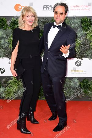 Stock Picture of Anna Loos (L) and Jan Josef Liefers attend the 69th German Film Awards 'LOLA' in Berlin, Germany, 03 May 2019. The most highly endowed cultural award in Germany is presented in 18 categories by the Deutsche Filmakademie (German film academy).