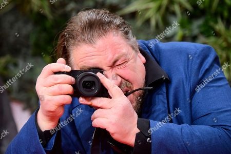 Stock Image of Armin Rohde takes pictures attending the 69th German Film Awards 'LOLA' in Berlin, Germany, 03 May 2019. The most highly endowed cultural award in Germany is presented in 18 categories by the Deutsche Filmakademie (German film academy).