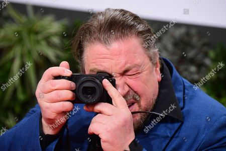 Armin Rohde takes pictures attending the 69th German Film Awards 'LOLA' in Berlin, Germany, 03 May 2019. The most highly endowed cultural award in Germany is presented in 18 categories by the Deutsche Filmakademie (German film academy).