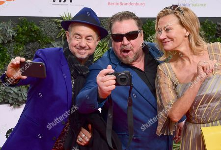 Helmut Zerlett, Armin Rohde and Karen Böhne attend the 69th German Film Awards 'LOLA' in Berlin, Germany, 03 May 2019. The most highly endowed cultural award in Germany is presented in 18 categories by the Deutsche Filmakademie (German film academy).