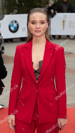 Sonja Gerhardt attends the 69th German Film Awards 'LOLA' in Berlin, Germany, 03 May 2019. The most highly endowed cultural award in Germany is presented in 18 categories by the Deutsche Filmakademie (German film academy).