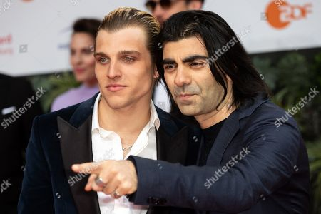 Stock Image of Jonas Dassler and Fatih Akin attend the 69th German Film Awards 'LOLA' in Berlin, Germany, 03 May 2019. The most highly endowed cultural award in Germany is presented in 18 categories by the Deutsche Filmakademie (German film academy).