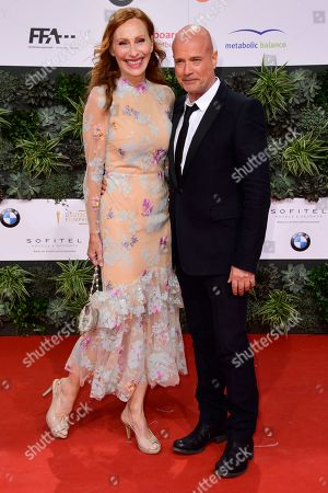 Stock Picture of Andrea Sawatzki (L) and Christian Berkel attend the 69th German Film Awards 'LOLA' in Berlin, Germany, 03 May 2019. The most highly endowed cultural award in Germany is presented in 18 categories by the Deutsche Filmakademie (German film academy).