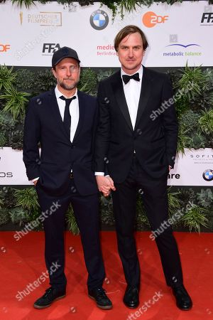 Bjarne Maedel (L) and Lars Eidinger attend the 69th German Film Awards 'LOLA' in Berlin, Germany, 03 May 2019. The most highly endowed cultural award in Germany is presented in 18 categories by the Deutsche Filmakademie (German film academy).