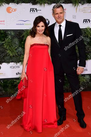 Stock Photo of Iris Berben (L) and Heiko Kiesow attend the 69th German Film Awards 'LOLA' in Berlin, Germany, 03 May 2019. The most highly endowed cultural award in Germany is presented in 18 categories by the Deutsche Filmakademie (German film academy).