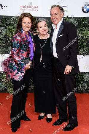 Caroline Link, Ursula Werner and Nico Hofmann attend the 69th German Film Awards 'LOLA' in Berlin, Germany, 03 May 2019. The most highly endowed cultural award in Germany is presented in 18 categories by the Deutsche Filmakademie (German film academy).