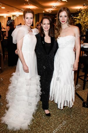 Stock Image of Lisa Martinek, Lavinia Wilson and Pheline Roggan during the after-show party of the 69th German Film Awards 'LOLA' in Berlin, Germany, 03 May 2019. The most highly endowed cultural award in Germany is presented in 18 categories by the Deutsche Filmakademie (German film academy).
