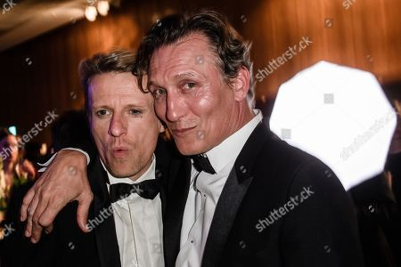 Oliver Masucci (R) and German actor Alexander Scheer, winner of the 'LOLA' for best male leading role, during the after-show party of the 69th German Film Awards 'LOLA' in Berlin, Germany, 03 May 2019. The most highly endowed cultural award in Germany is presented in 18 categories by the Deutsche Filmakademie (German film academy).