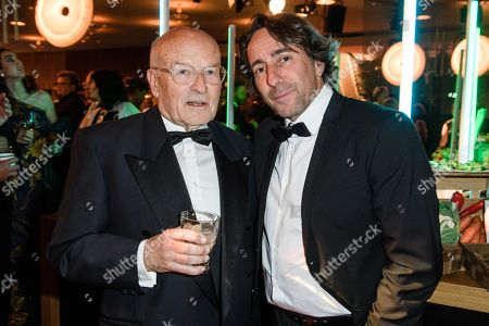 Stock Picture of Volker Schloendorff (L) and German actor Dieter Landuris during the after-show party of the 69th German Film Awards 'LOLA' in Berlin, Germany, 03 May 2019. The most highly endowed cultural award in Germany is presented in 18 categories by the Deutsche Filmakademie (German film academy).