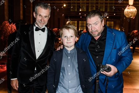 Stock Picture of The president of the German Film Academy Ulrich Matthes, German actor Julius Weckauf and German actor Armin Rohde pose at the 69th German Film Awards 'LOLA' in Berlin, Germany, 03 May 2019. The most highly endowed cultural award in Germany is presented in 18 categories by the Deutsche Filmakademie (German film academy).
