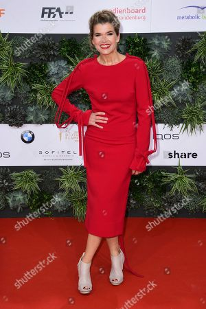 Anke Engelke at the red carpet for the 69th German Film Awards 'LOLA' in Berlin, Germany, 03 May 2019. The most highly endowed cultural award in Germany is presented in 18 categories by the Deutsche Filmakademie (German film academy).