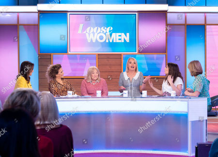 Andrea McLean, Nadia Sawalha, Kellie Maloney, India Willoughby, Stacey Solomon and Kaye Adams