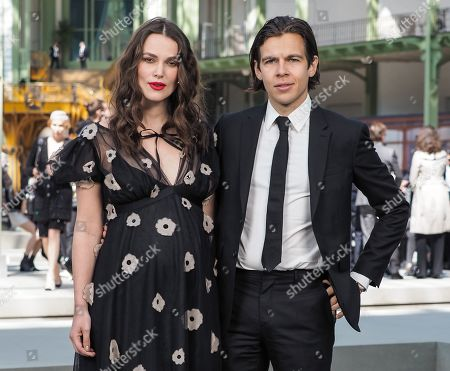 Stock Image of Keira Knightley and James Righton in the front row