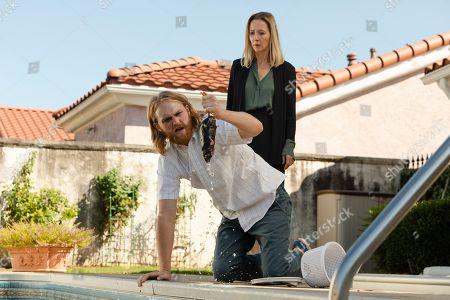 "Stock Picture of Wyatt Russell as Sean ""Dud"" Dudley and Jocelyn Towne as Gloria Keller"
